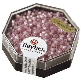 Rayher Delica-rocailles 1,6mm roze 6 g, parelglans