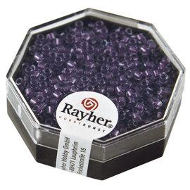 Rayher Delica-rocailles, 2,2mm violet 9g. parelglans