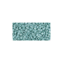 Rayher Delica-rocailles 2,2mm mint 8g. transparant rainbow mat