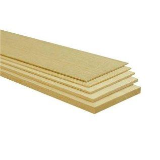 BALSA plankje, 1000x100x2mm