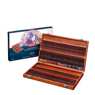 Derwent Coloursoft pencils Wood Box