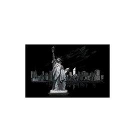 Kraskaart mini 28,6x39cm zilver Vrijheidsbeeld