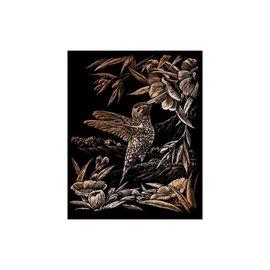 Kraskaart 20,3x25,4cm koper Kolibries