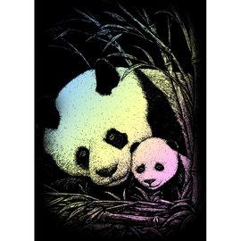 Kraskaart mini 12,5x17,5cm holographic bamboe panda