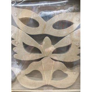 30 maskers in papier maché