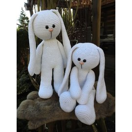 XXL Funny Bunny Basic Wit (staand of Zittend)