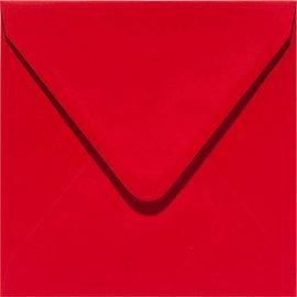 enveloppen vierkant 160x160mm red 6st
