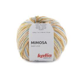 Katia Mimosa 304 Roestbruin-Citroengeel-Waterblauw bad 33613A