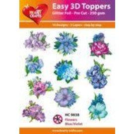 Easy 3D - Flowers, Blue/Violet