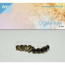 Joy Crafts Kristal ogen - Beige, 8mm, 10st.