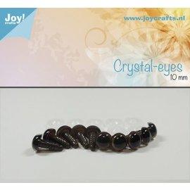 Joy Crafts Joy! Crafts Kristal ogen 10st Bruin 14mm