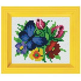 Pixelpakket - vlinder / bloemen