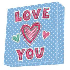 BOX Diamond Dotting kit - 15x15cm - LOVE YOU