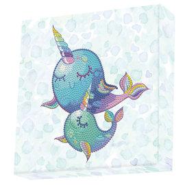 DOTZ® - BOX Diamond Dotting kit - 22x22cm - Narwhal Dreams