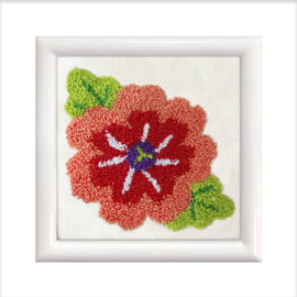 Small Punch met frame wit Spring Bloom