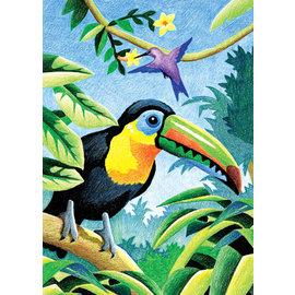 Kleuren op nummer - MINI CPN - TROPICAL BIRDS