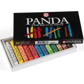 """Talens Talens: Oliepastels """"Panda"""" set met 12 pastels"""