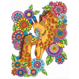 Color by numbers - GIRAFFE PENCIL - 23x30 cm