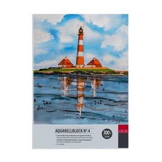 Aquarelblok No.4 17x24cm