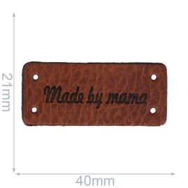 Leren labels made by mama 40x21mm