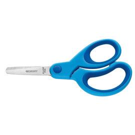 schaar Westcott Kids 13cm soft grip ronde punt blauw