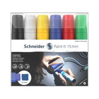 Schneider Acryl Marker Schneider Paint-it 330 15mm etui 6st.