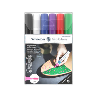 Schneider Acryl Marker Schneider Paint-it 320 4mm etui 6st.