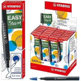 """Stabilo Boss Stabilo: Vulling """"EASYoriginal"""" medium: 0.5mm, doosje van 3 stuks - Blauw"""