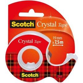 """Scotch Scotch®: Plakband """"Crystal"""" 19mmx7,5m met afroller, op blister"""