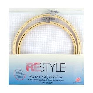 Aida54 14 ct plus 15+18cm ring