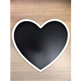 Krijtbord hartvorm 30x27x0,5cm