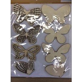 Houten vorm - Scrapbooking  silhouette Vlinders