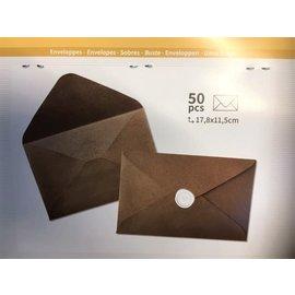 Omslagen - Enveloppes 17,5x11,5cm kraft 50st.