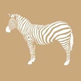 Sjabloon Paard - Zebra 20x20cm 2delig