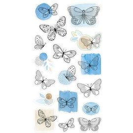 Stickers vlinders ca. 1-3,5cm