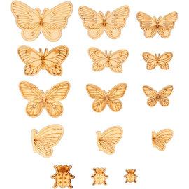 Houten mini vlinders & lieveheersbeestjes 21st.