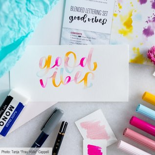 Blended Lettering Set Good Vibes