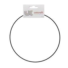 Metalen dromenvanger ring bedekt 45cm zwart