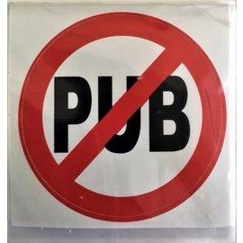 "pictogram ""verboden publiciteit"" 5cm - rood-wit  (sticker)"