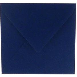 vierkante omslag 160x160mm marineblauw 6st