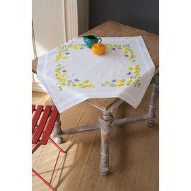Tafelkleed voorgedrukt borduren lentebloemen
