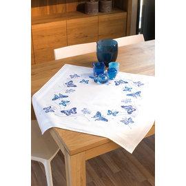 Vervaco Tafelkleed kit Blauwe vlinders