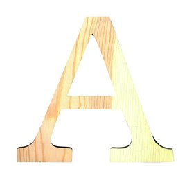 HOUTEN GROTE LETTER A
