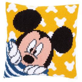 Disney Kruissteekkussen kit Disney Mickey kiekeboe
