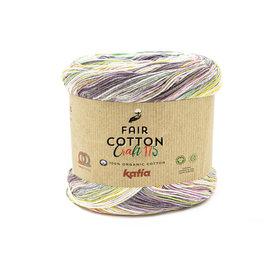 Katia FAIR COTTON CRAFT 175  804 Bleekrood-Parelmoer-lichtviolet-Waterblauw 36647