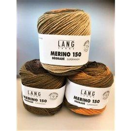 Lang Yarns MERINO 150 DÉGRADÉ 0006 Bruin-Oranje-Beige bad 4645