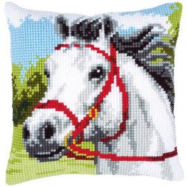Vervaco Kruissteekkussen kit Wit paard