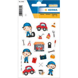 "Stickers ""De kleine monteur"""