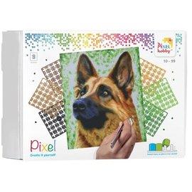 PixelHobby Pixel kit Herdershond | 9 basisplaten
