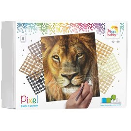 PixelHobby Pixel kit Leeuw | 9 basisplaten